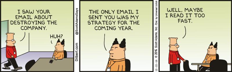 Dilbert Corporate Strategy Comic
