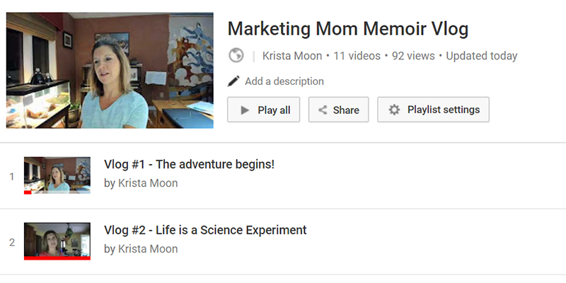 Marketing Mom Memoir Playlist